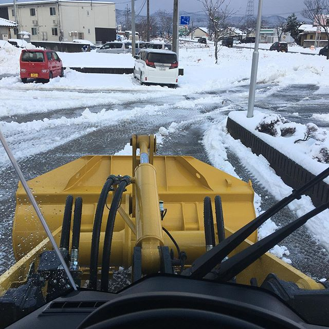 今シーズン初除雪🤘業務完了#伐採#特殊伐採#林業#除雪#石川県#白山市#鶴来#なかの林業