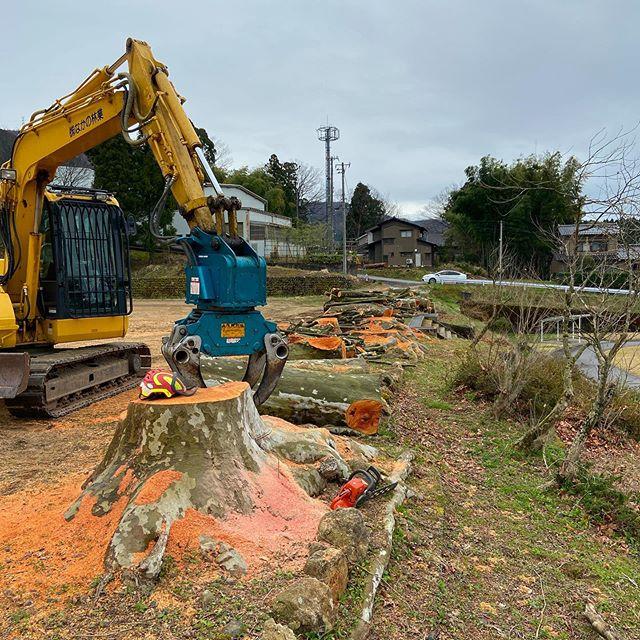 本日は某所で伐採し集積したパルプ材の搬出作業#伐採#特殊伐採#林業#パルプ材#搬出#石川県#白山市#鶴来#なかの林業