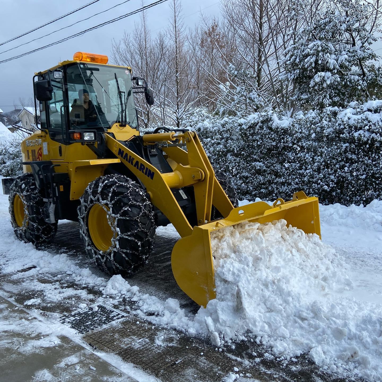 夜中から除雪作業!#伐採#特殊伐採#林業#除雪#石川県#白山市#鶴来#なかの林業