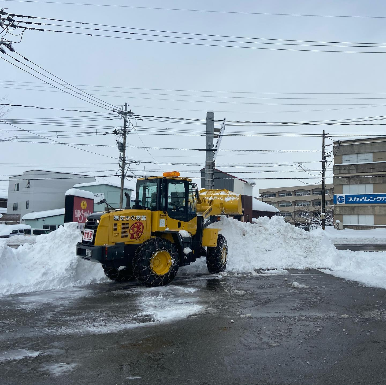 またまた除雪#伐採#特殊伐採#林業#除雪#石川県#白山市#鶴来#なかの林業