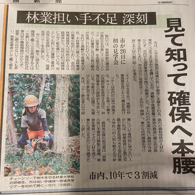 #伐採#特殊伐採#林業#石川県#白山市#鶴来#なかの林業